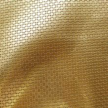 Egyptian Gold Perforated Metallic Leather Half Skins